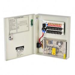 HR SECURITY - HRPS1209-5A - ALIMENTATORE 5A, 9 USCITE, IN BOX METALLICO